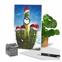 Creative Merry Christmas Printed Greeting Card From NobleWorksCards.com - Santa's Cactus - Beard image 6