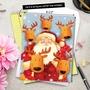 Creative Christmas Jumbo Printed Card by Portfolio Select Ltd from NobleWorksCards.com - Santa Selfies image 6