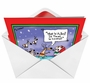 Funny Christmas Paper Card by Todd Provance from NobleWorksCards.com - Santa Timmy Trouble image 2