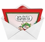 Hysterical Christmas Greeting Card by Glenn McCoy from NobleWorksCards.com - Santa Tips Nice List image 2