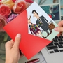 Hysterical Valentine's Day Printed Greeting Card By Sergei Belozerov From NobleWorksCards.com - Scarf Couple image 2