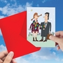 Hysterical Valentine's Day Printed Greeting Card By Sergei Belozerov From NobleWorksCards.com - Scarf Couple image 3