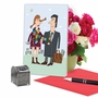 Hysterical Valentine's Day Printed Greeting Card By Sergei Belozerov From NobleWorksCards.com - Scarf Couple image 5