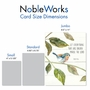 Stylish Congratulations Jumbo Paper Card From NobleWorksCards.com - Scripture Birds - Psalm 150:6 image 4