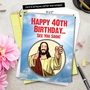 Funny Milestone Birthday Jumbo Paper Greeting Card From NobleWorksCards.com - See You Soon-40 image 6