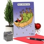 Hilarious Merry Christmas Printed Card By Maria Scrivan From NobleWorksCards.com - Self-Driving Sled image 5