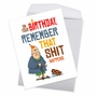 Hysterical Birthday Jumbo Greeting Card By Daniel O'Neill From NobleWorksCards.com - Sh*t Happens image 3