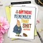 Hysterical Birthday Jumbo Greeting Card By Daniel O'Neill From NobleWorksCards.com - Sh*t Happens image 6