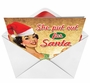 Humorous Christmas Paper Greeting Card from NobleWorksCards.com - She Put Out for Santa image 2