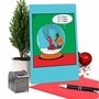 Funny Merry Christmas Paper Greeting Card By Leigh Rubin From NobleWorksCards.com - Snowglobe Blower image 5