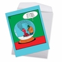 Humorous Merry Christmas Jumbo Paper Greeting Card By Leigh Rubin From NobleWorksCards.com - Snowglobe Blower image 2