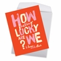 Hysterical Valentine's Day Jumbo Greeting Card By Offensive+Delightful From NobleWorksCards.com - So Lucky image 2