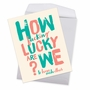 Funny Anniversary Jumbo Paper Greeting Card By Offensive+Delightful From NobleWorksCards.com - So Lucky image 3