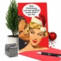 Funny Merry Christmas Paper Greeting Card From NobleWorksCards.com - Socks and Sex Toy image 5