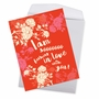 Hilarious Valentine's Day Jumbo Printed Greeting Card By Offensive+Delightful From NobleWorksCards.com - Sooooooo In Love image 2