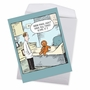 Hilarious Get Well Jumbo Printed Greeting Card By Dave Coverly From NobleWorksCards.com - Sore Gingerbread Man image 2