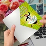 Funny Birthday Paper Greeting Card From NobleWorksCards.com - Spring In Step image 2