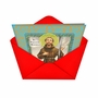 Humorous Christmas Paper Greeting Card from NobleWorksCards.com - St. Festivus image 2