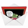 Hilarious Christmas Printed Greeting Card by Glenn McCoy from NobleWorksCards.com - Stalked by Santa image 2