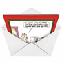 Humorous Christmas Paper Card by Glenn McCoy from NobleWorksCards.com - Stocking Away From Fire image 2