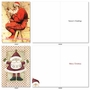 Creative Merry Christmas Printed Card By Assorted Artists From NobleWorksCards.com - Stylish Santas image 3