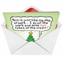 Humorous Christmas Printed Greeting Card by Randall McIlwaine from NobleWorksCards.com - Suit Takes Credit image 2