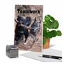 Stylish Thank You Paper Greeting Card From NobleWorksCards.com - Teamwork image 6