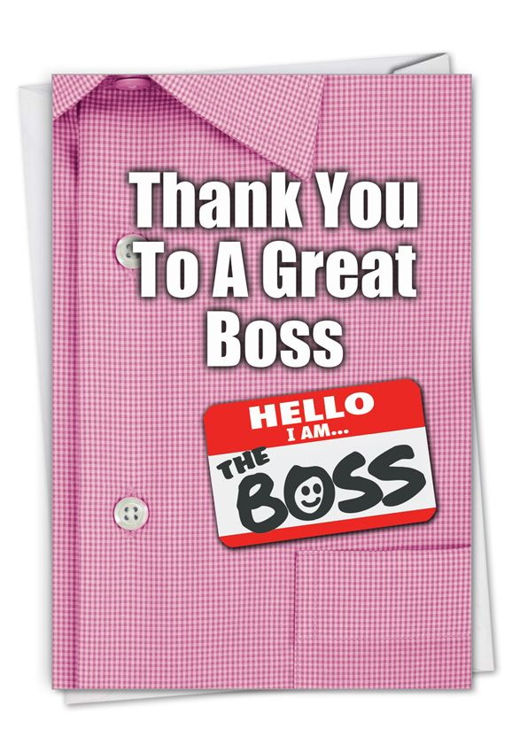 Thank You to a Great Boss: Stylish Boss Thank You Card