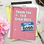 Stylish Boss's Day Jumbo Card From NobleWorksCards.com - Thank You to a Great Boss image 6