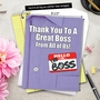 Hilarious Boss Thank You Jumbo Printed Card From NobleWorksCards.com - Thank You to a Great Boss image 6