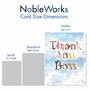 Creative Boss Thank You Jumbo Printed Card From NobleWorksCards.com - Thanks A Bunch image 5
