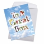 Stylish Boss's Day Jumbo Paper Card From NobleWorksCards.com - Thanks A Bunch image 3