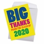 Hysterical Thank You Jumbo Greeting Card From NobleWorksCards.com - Thanks From The Class Year - 2020 image 3
