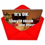 Hysterical Christmas Paper Card from NobleWorksCards.com - Think Santa Ate Them image 2