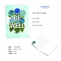Stylish Friendship Paper Card From NobleWorksCards.com - Timely Thoughts - Be Well image 2