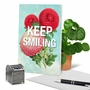 Stylish Friendship Paper Greeting Card From NobleWorksCards.com - Timely Thoughts - Keep Smiling image 6