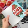 Creative Friendship Printed Card From NobleWorksCards.com - Timely Thoughts - Keep Upbeat image 3