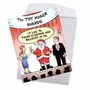 Hysterical Merry Christmas Jumbo Printed Greeting Card By Tony Lopes From NobleWorksCards.com - Toy Maker Awards image 2