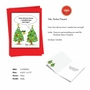 Funny Merry Christmas Paper Greeting Card By Martin J. Bucella From NobleWorksCards.com - Tree Earrings image 2