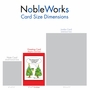 Funny Merry Christmas Paper Greeting Card By Martin J. Bucella From NobleWorksCards.com - Tree Earrings image 5