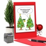 Funny Merry Christmas Paper Greeting Card By Martin J. Bucella From NobleWorksCards.com - Tree Earrings image 6