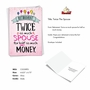 Humorous Retirement Paper Card From NobleWorksCards.com - Twice The Spouse image 2