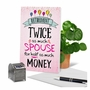 Humorous Retirement Paper Card From NobleWorksCards.com - Twice The Spouse image 6