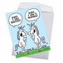 Funny Birthday Jumbo Paper Greeting Card By Scott Nickel From NobleWorksCards.com - Unbelievable Unicorns image 2