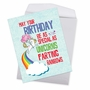 Hilarious Birthday Jumbo Printed Card From NobleWorksCards.com - Unicorns and Rainbows image 2