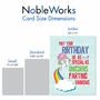 Hilarious Birthday Jumbo Printed Card From NobleWorksCards.com - Unicorns and Rainbows image 4