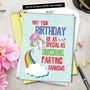 Hilarious Birthday Jumbo Printed Card From NobleWorksCards.com - Unicorns and Rainbows image 6