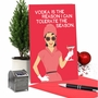 Humorous Merry Christmas Paper Greeting Card By Bluntcard From NobleWorksCards.com - Vodka Is The Reason image 6