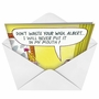 Hilarious Birthday Paper Card by John Billette from NobleWorksCards.com - Waste Your Wish image 2