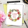 Stylish Blank Jumbo Paper Greeting Card from NobleWorksCards.com - Watercolor Wreaths image 6